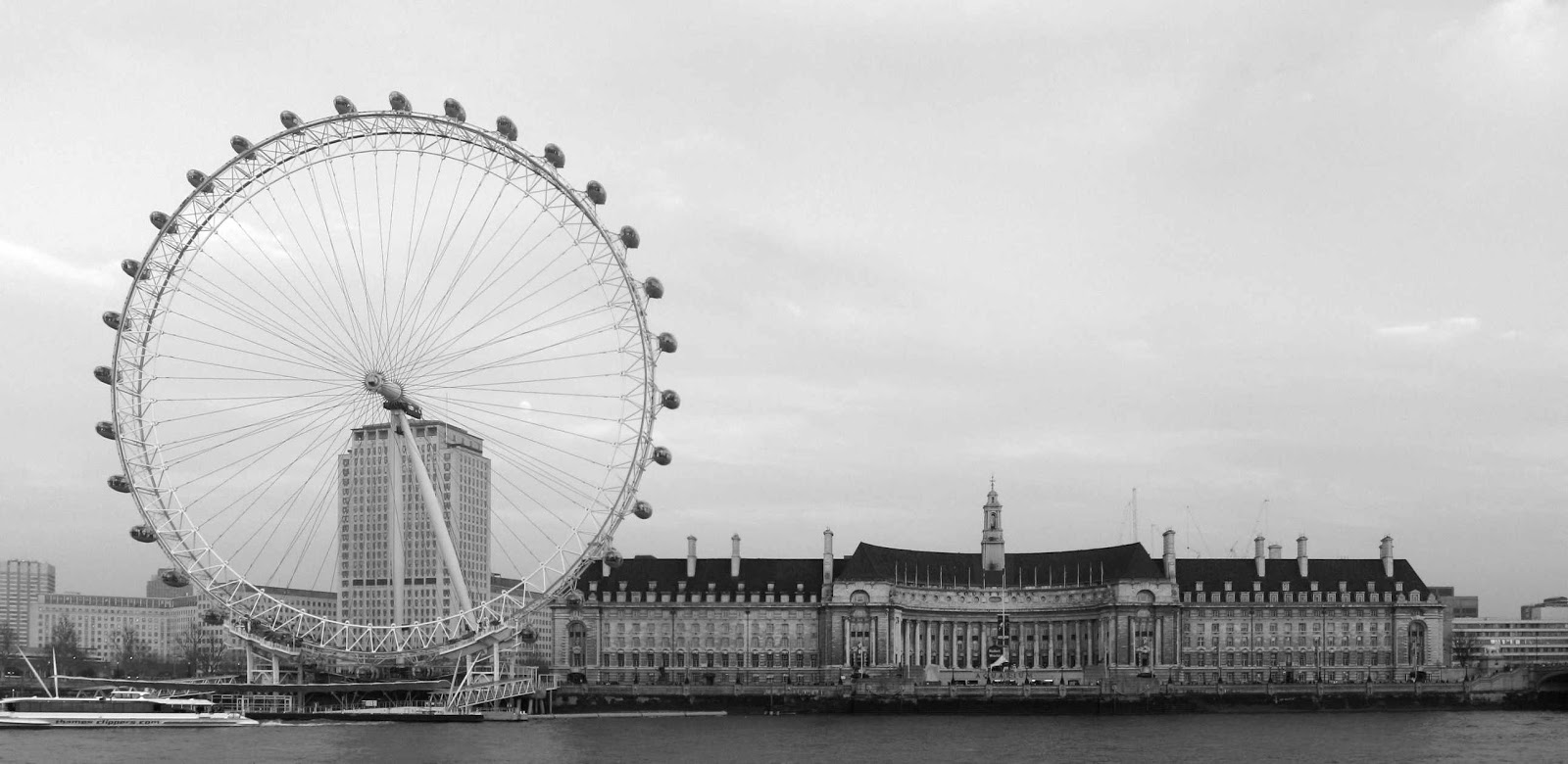 London Eye Photo black and white