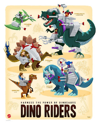 Dino Riders Print by Ian Glaubinger