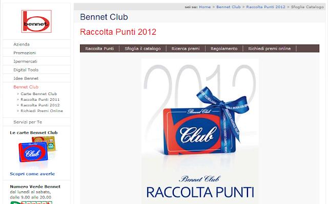 Catalogo punti Bennet