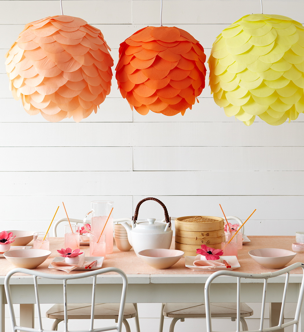 White space is nice space diy paper lanterns by the for Paper decorations diy
