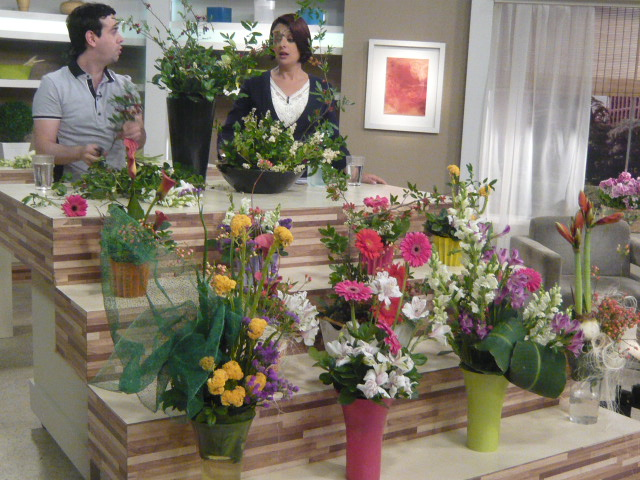 """TV Gazeta no programa """"Mulheres."""" Ikebana de Primavera."""