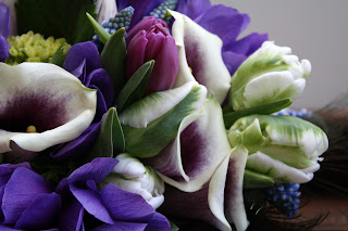 Purple & White Calla Lily Wedding Bouquet - Splendid Stems Floral Designs