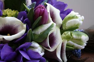 Purple & White Calla Lily Wedding Bouquet - Splendid Stems Floral Designs