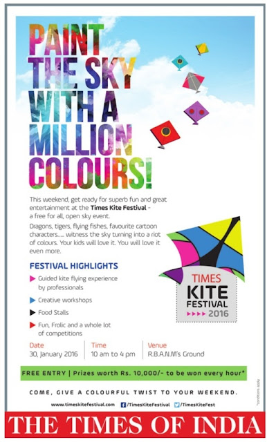 Paint the sky with Million colors | Kite festival @Bangalore - Jan 30th