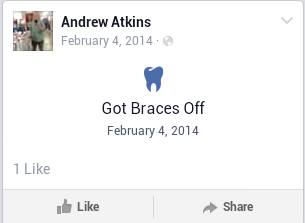 #teeth #AndrewAtkins.- Andrew Atkins: got braces off