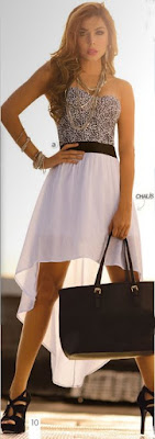 vestido strapless print 2015