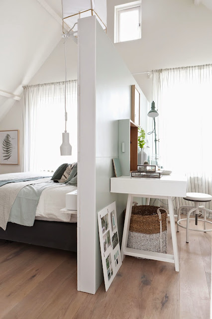 Zona de trabajo con dormitorio