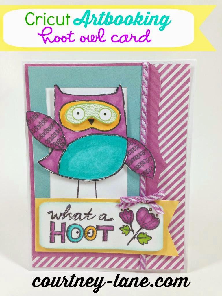 Cricut Artbooking Owl card