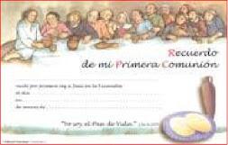 RECUERDO COMUNIÓN