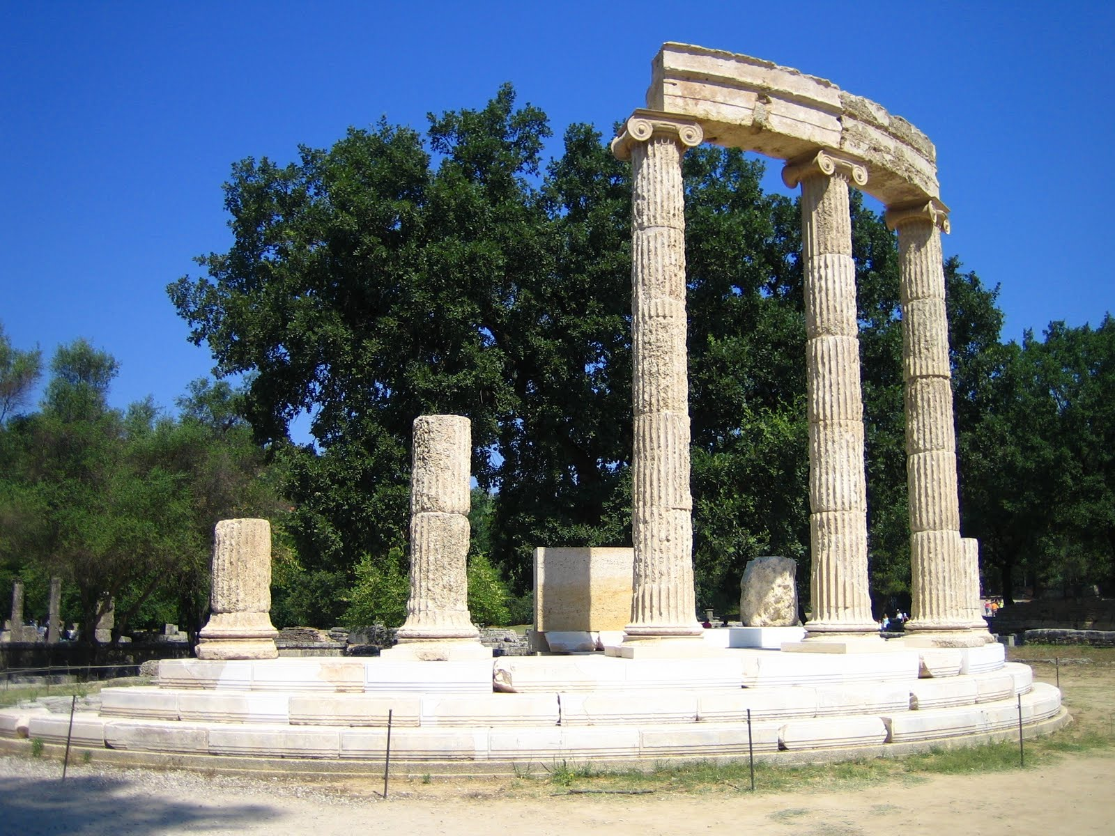 Macedonia Documents The Philippeion Ancient Olympia