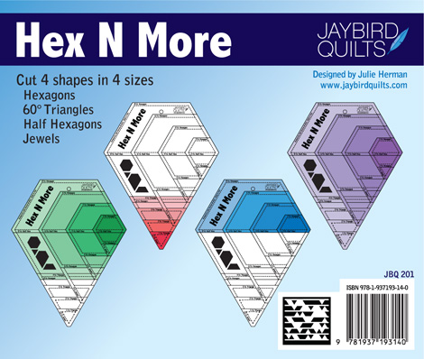 Hex N More Ruler artwork Jaybird Quilts Block Giveaway