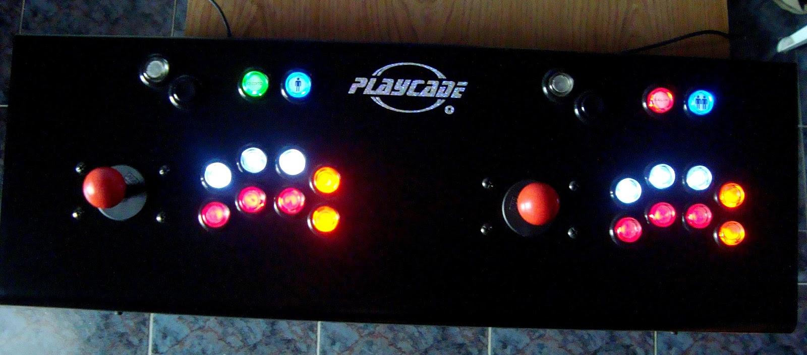 JOYSTICK ARCADE MAME PLAYCADE TWIN ARCOIRIS, USB, 2 JUGADORES