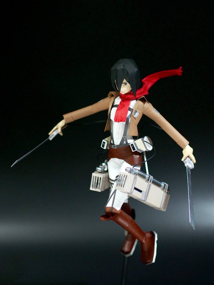 Attack on Titan Mikasa Ackerman Papercraft