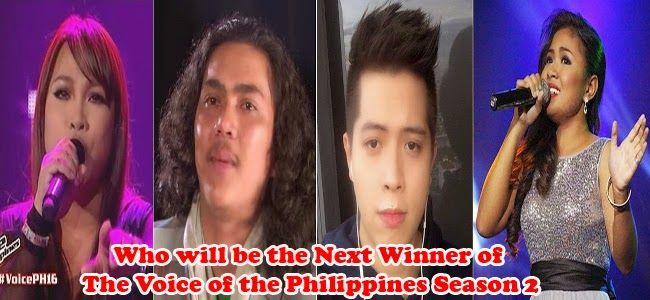 The Voice of the Philippines Season 2 Second Set for Grand Finale the 'Solo Performance of Fast Songs'