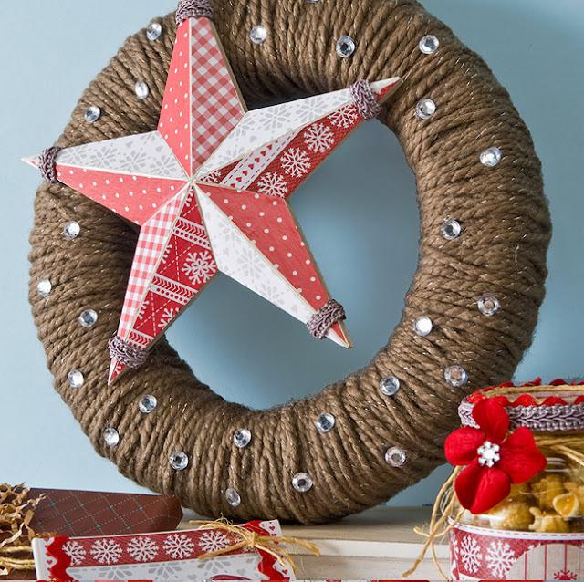 Cathie Filian: DIY Mod Podge and Yarn Wreath