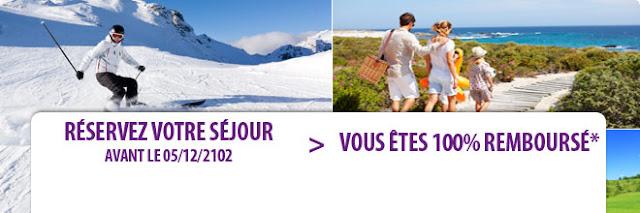 Vacances hiver 100% remboursées en bon d'achat