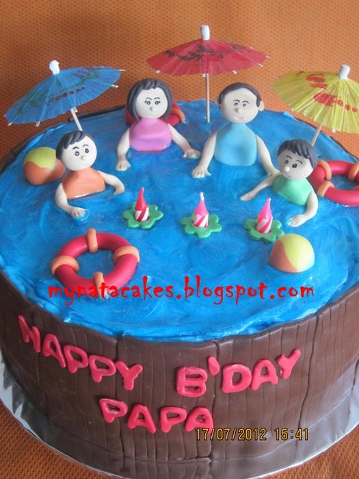 Mynata Cakes Bath tube birthday cake for papa