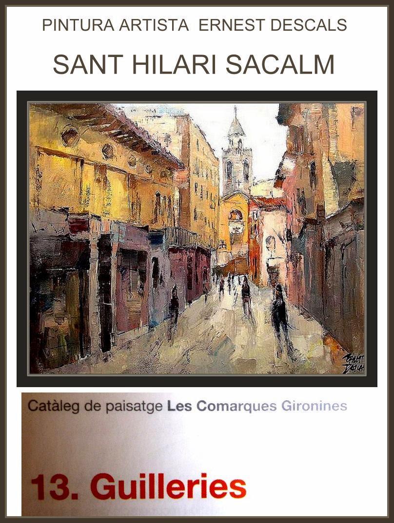 SANT HILARI SACALM-LLIBRE- COMARQUES-GIRONA-PINTOR-ERNEST DESCALS