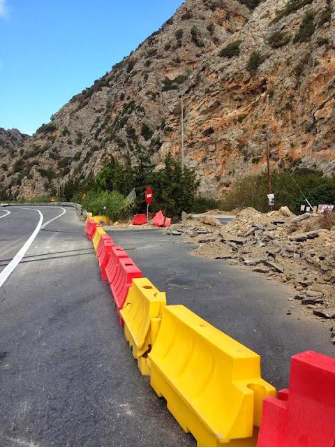 ремонт дороги на Крите