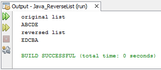 Reverse list