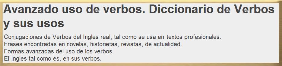 Diccionario de Verbos en Ingles y sus usos