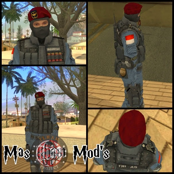 Mod Kopassus Point Blank Costume GTA SA