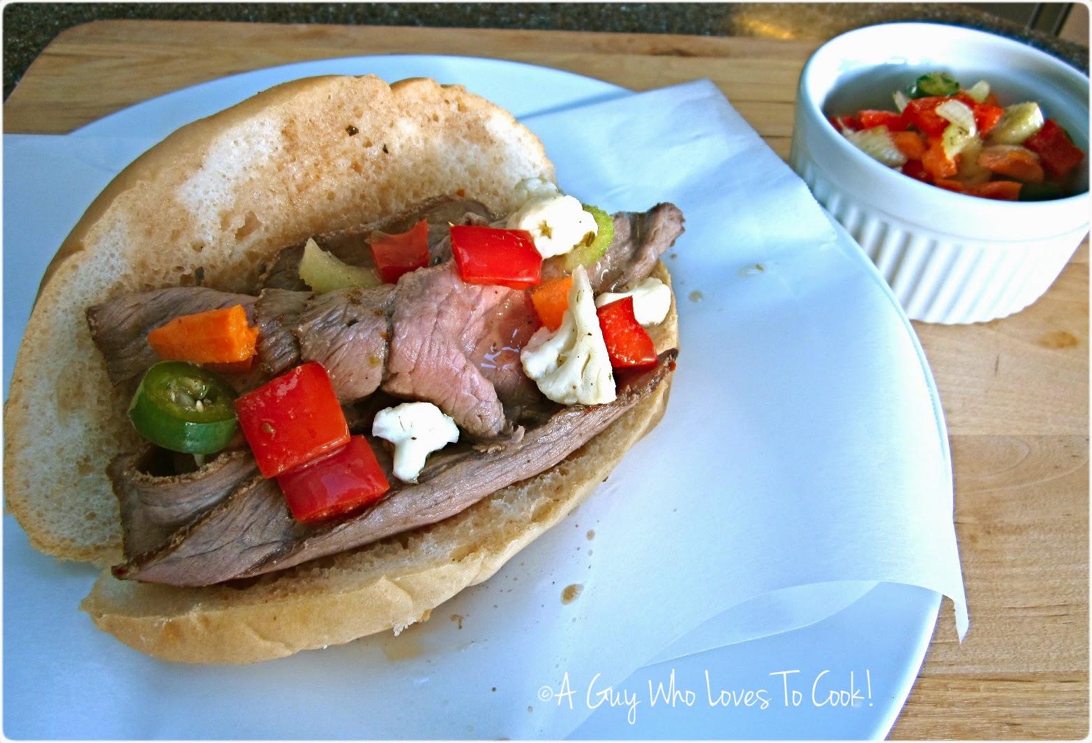 Italian Beef Sandwich - Chicago Style
