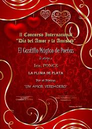 PLUMA DE PLATA 2DO. LUGAR CONCURSO CASTILLO MÁGICO SAN VALENTÍN