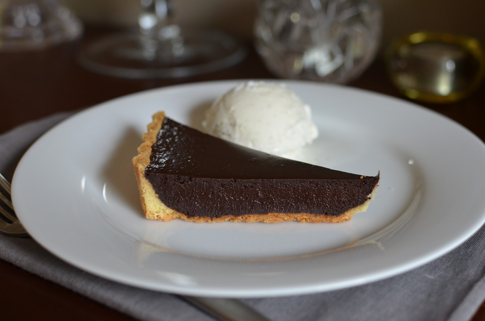 Playing with Flour: Chocolate ganache custard tart