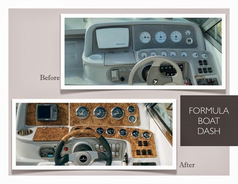 Boat Instrument Panel : Formula boat instrument panel dash material for