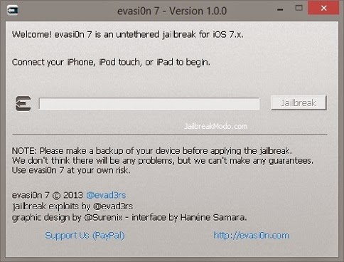 Cara Jailbreak Download Install Evasi0n 7