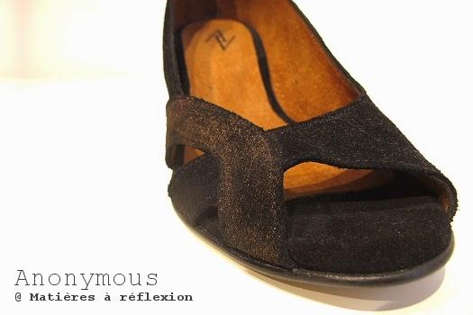 Escarpins d'été noir Anonymous chaussures ouvertes bronze noir graphique elena