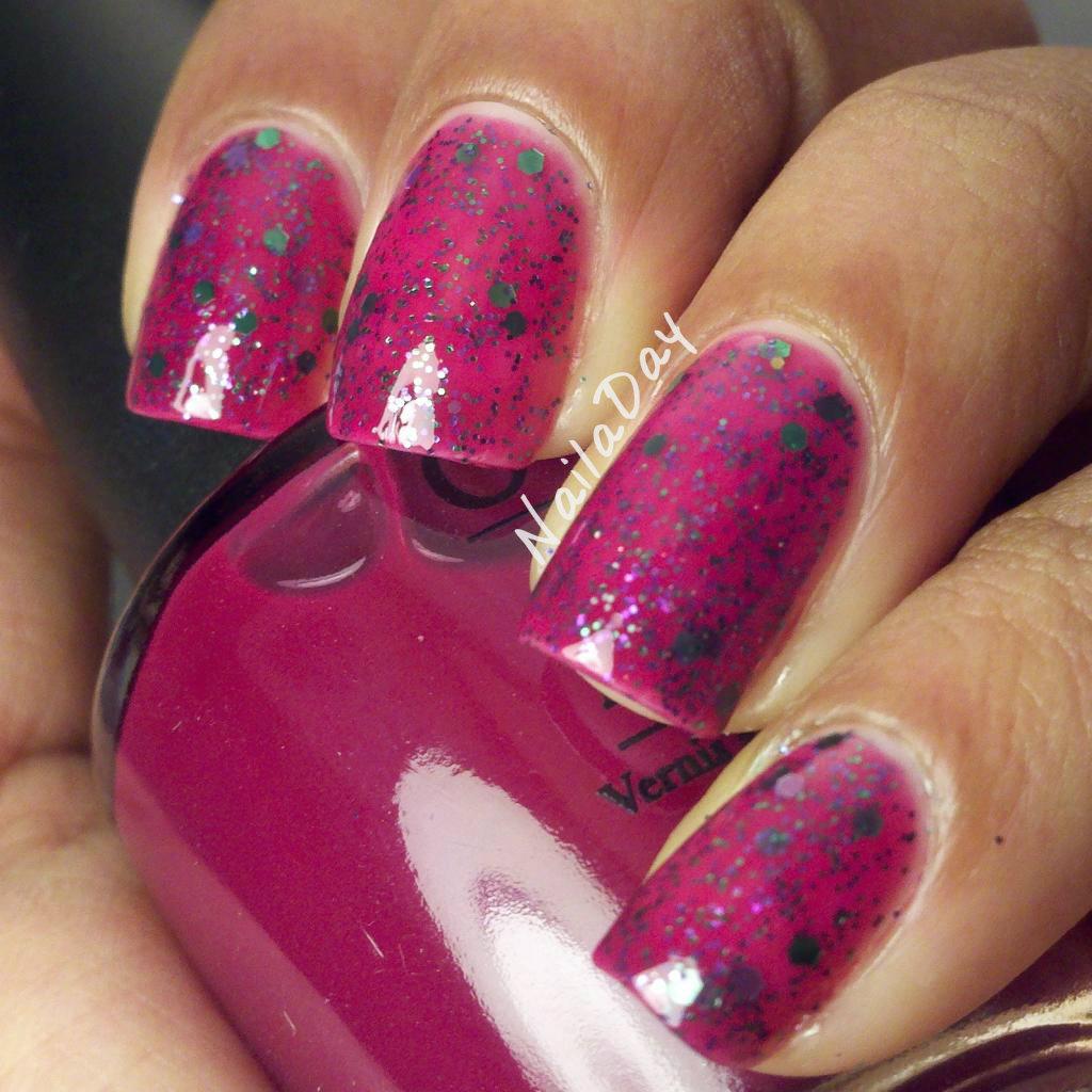 NailaDay: OPI Houston We Have a Purple Glitter Franken