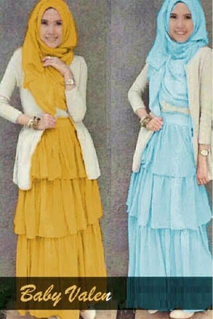 Model Baju Gamis Wanita Remaja Modis Paris