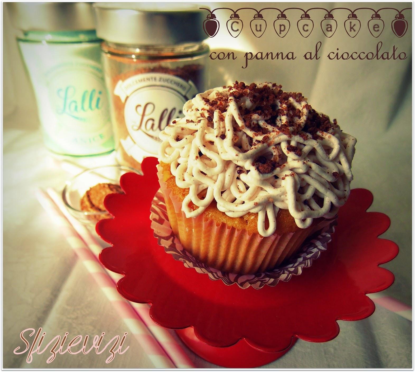 cupcake con panna al cioccolato - ricetta senza latticini -