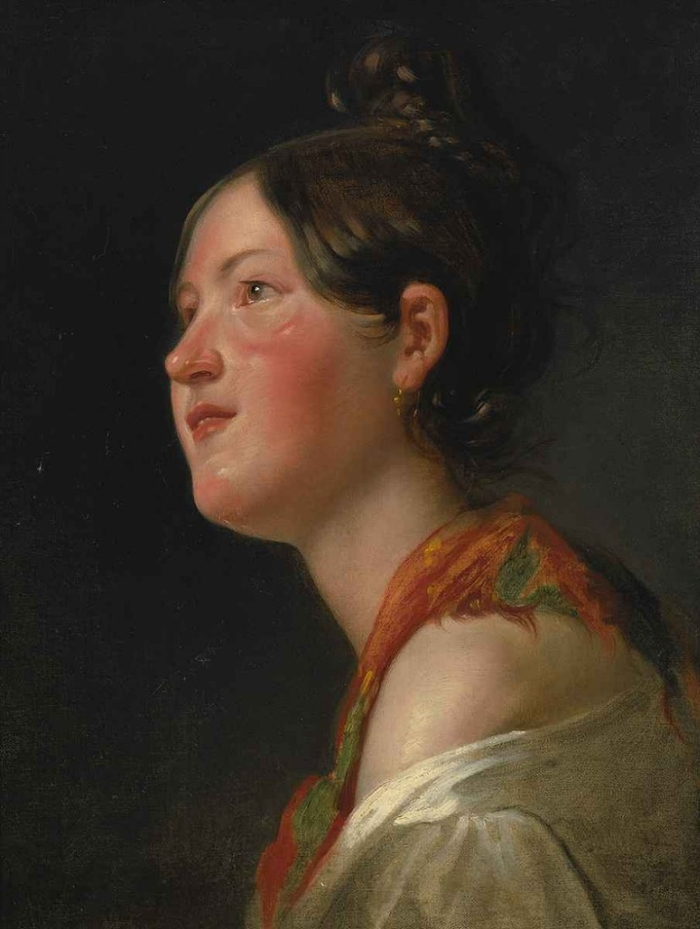 Friedrich Von Amerling 1803-1887 | Austrian Academic Portrait painter