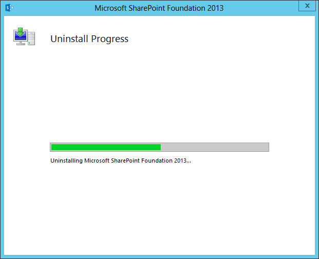 how uninstall sharepoint 2013
