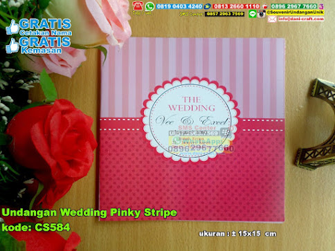 Undangan Wedding Pinky Stripe