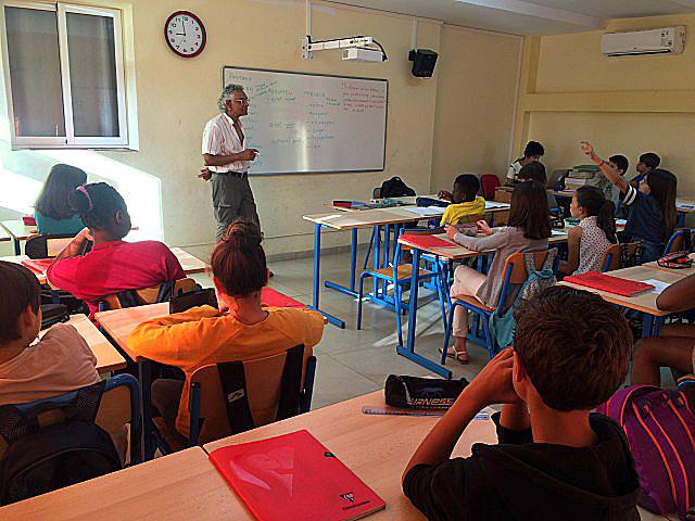 avec des enfants francophones à Cuba