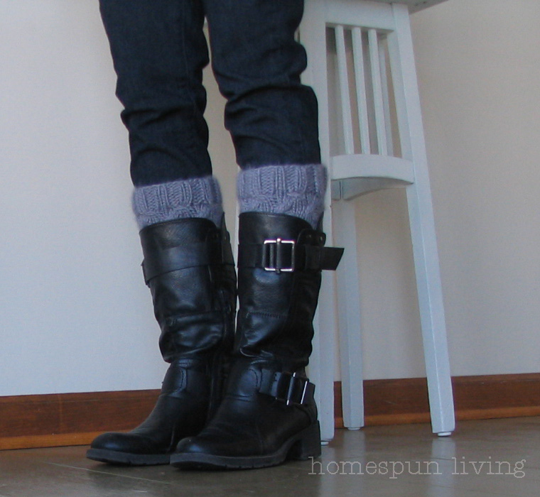 Contemporary Knitted Boot Cuff Pattern Free Model - Easy Scarf ...