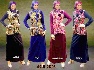 Model Gamis Muslim Terbaru Trendy 2014