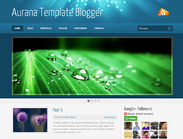 Aurana Template Blogger