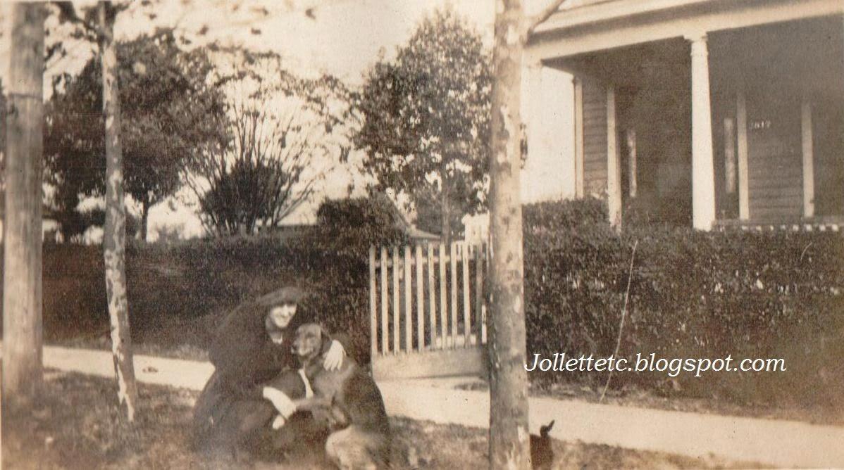 Helen Killeen Parker and her dog Charleston Ave, Portsmouth, VA