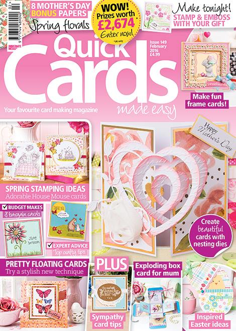 Published in Quick Cards Made Easy magazine Issue 149