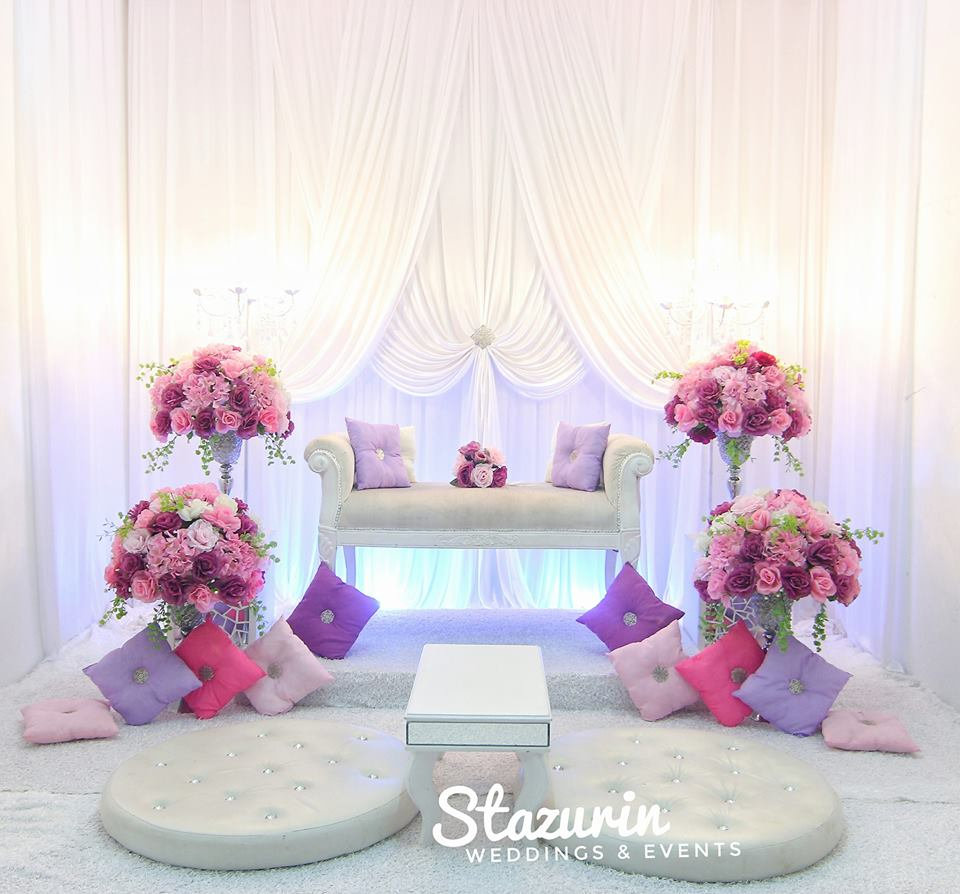 PELAMIN NIKAH TUNANG PASTEL DUSTY PINK PURPLE