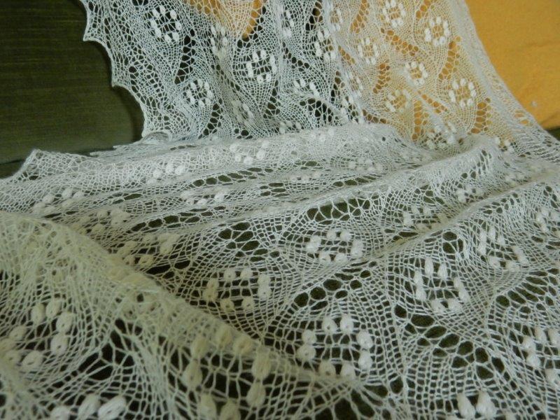 TE KOOP: ECRU bruidsshawl 58 x 145 cm