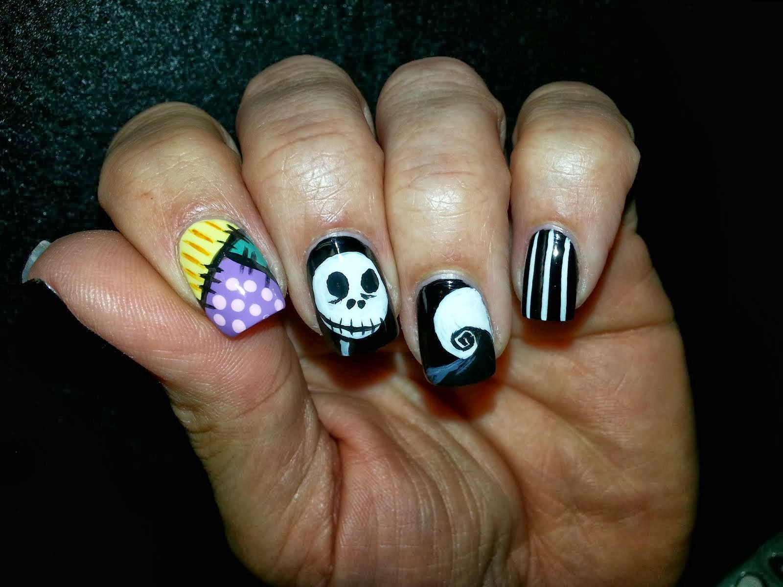 Nail Addicts Anonymous: Halloween Mani No. 4: Jack Skellington... my ...