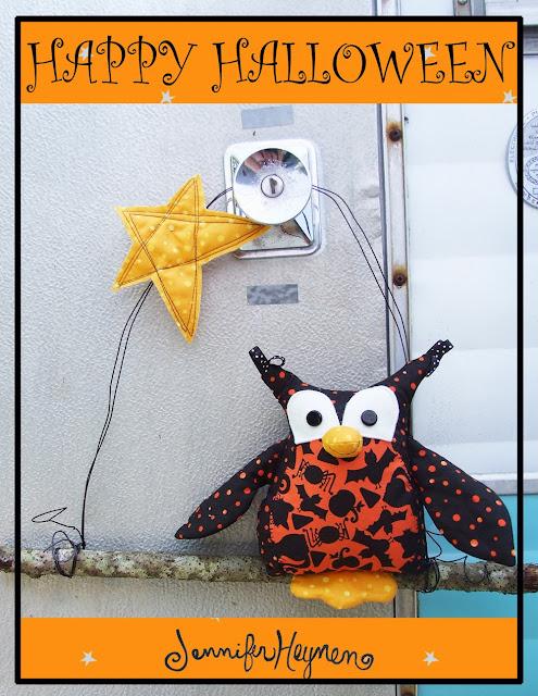 Halloween Owl Door Hanger  Jennifer Jangles ~ 102409_Halloween Owl Door Hanger