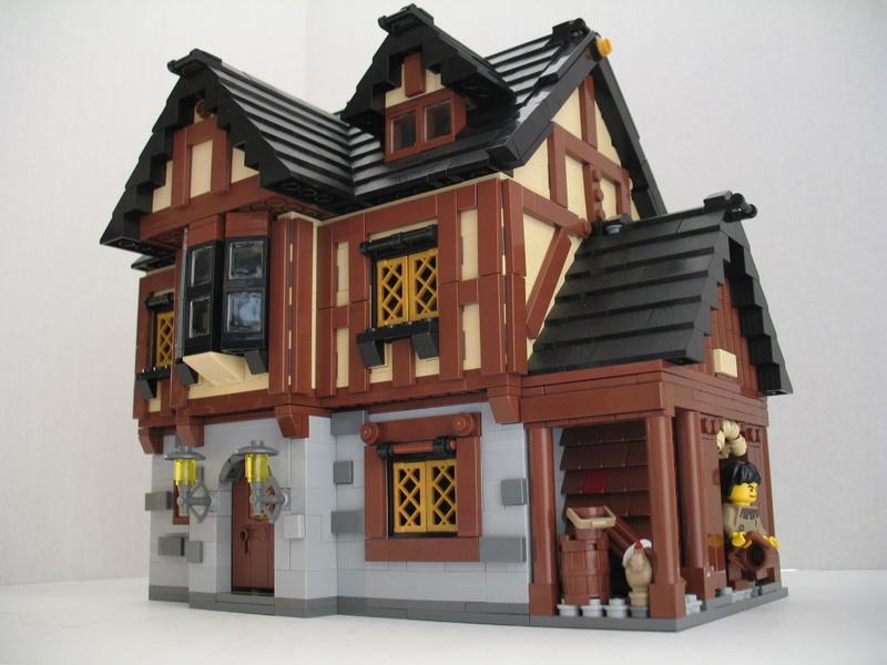 Blogbrickblog Goo Gl X6es2 Lego Moc Village Houses
