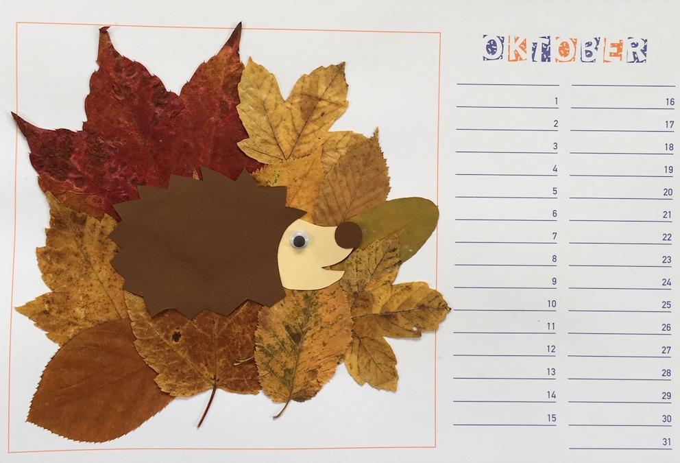 kalender monat oktober